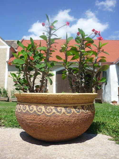 Šamotový květináč