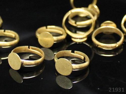 21931 Prsten základ s lůžkem 8mm ZLATÝ,  á 1ks