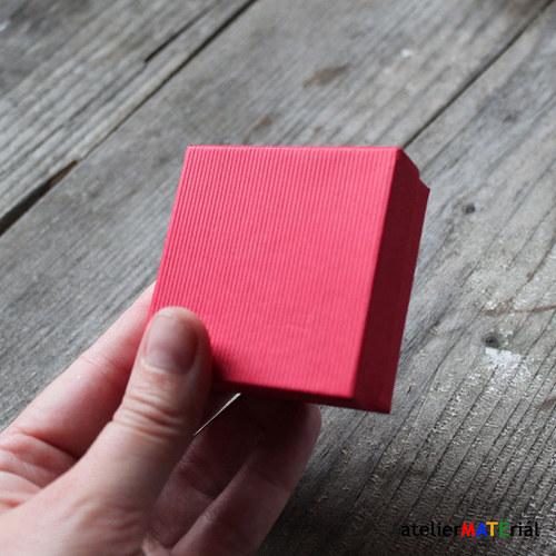 Papírová krabička SOFIA červená M