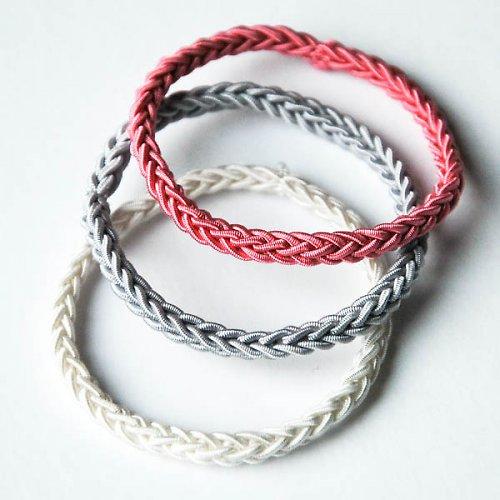 SET GUMIČIEK tenkých | Bielo - šedo - ružový