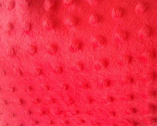 Minky jahodové - zbytek - 130 cm