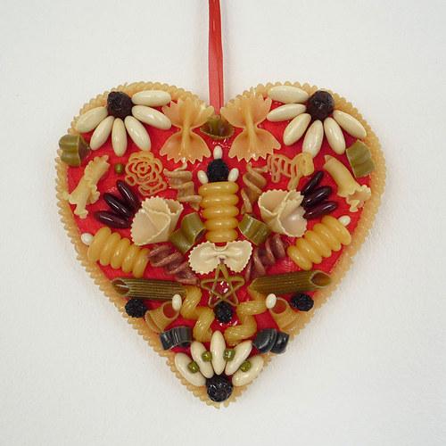 Srdce z těstovin ploché č.2