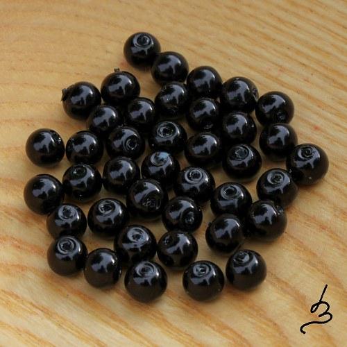 Voskovky černé 6 mm, 40 ks
