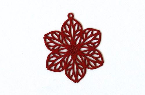 Měděný květ - červený