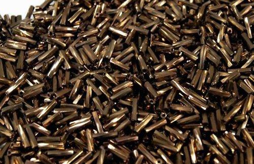Rokajl skleněný tyčka-hnědý 6mm 100g