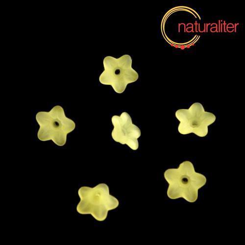 Květina akrylová 9mm žlutá, 10ks