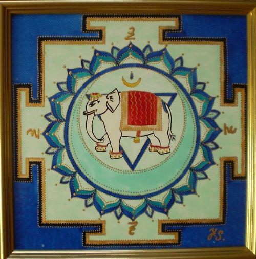 Indická jantra Jantra páté čakry