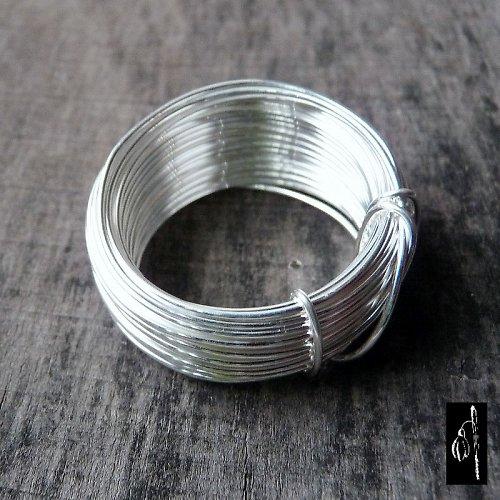 Postříbřený drát 0,6, 5 m