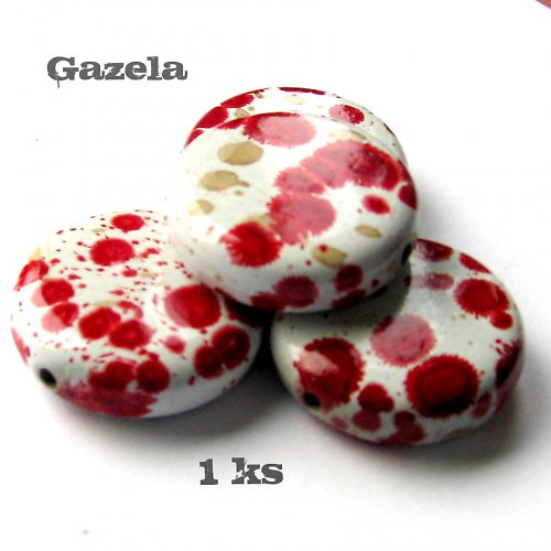 Kolečko dalmatin červené - 1 ks