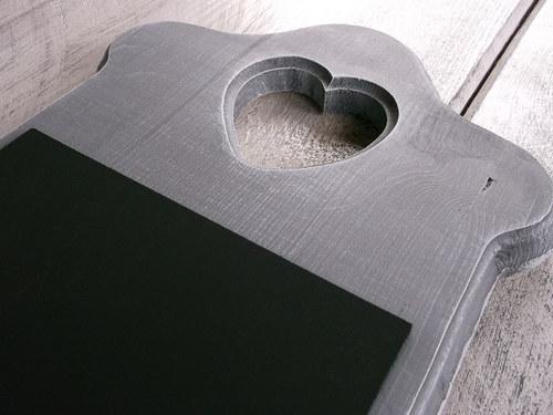 Tabulka na vzkazy malá - šedá patina
