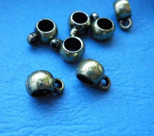 Očko na přívěsek kovoplast II. - 2 kusy