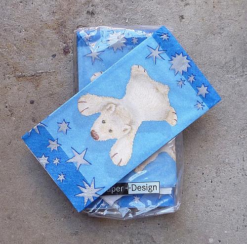 Lední medvídek-kapesníčky