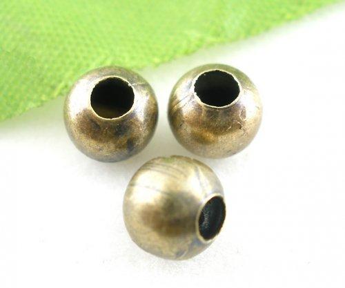 kovový korálek bronz 6mm/ 15ks