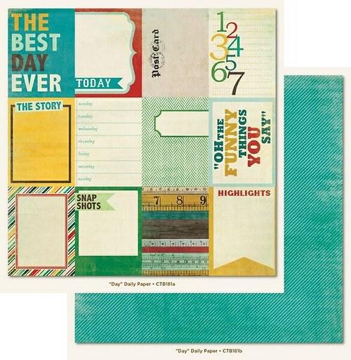 Scrapbookový papír MME /Remarkable/ Day Daily