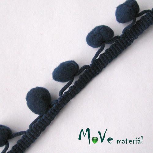 Prýmek šíře 20mm bambulky 10mm, 1m, tm.modrý