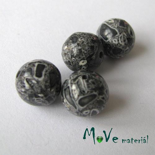 Korálky Marble šedé 10mm 4ks