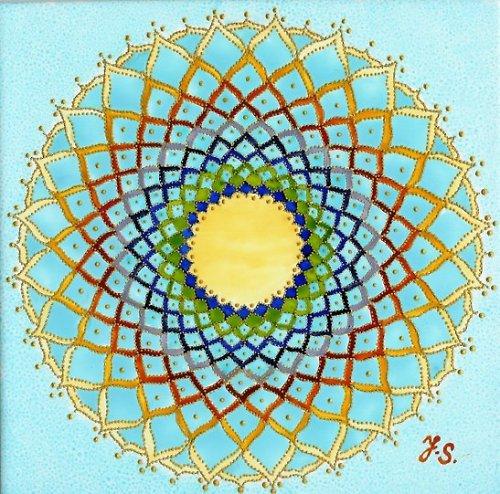 Mandala Temenní čakra