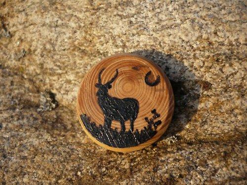 Africký kopytník - brož / přívěsek