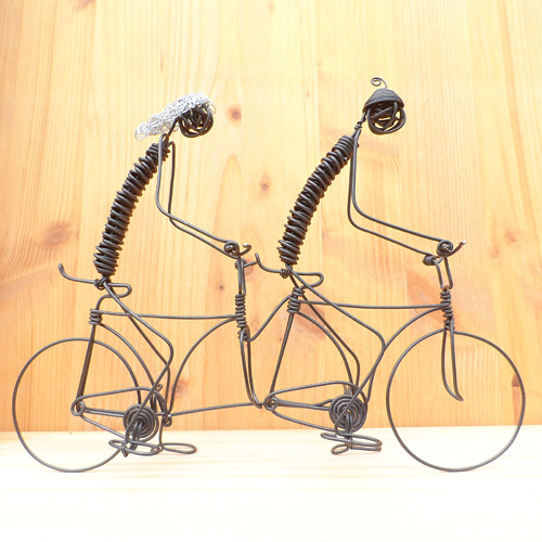 Duo na tandemovém kole