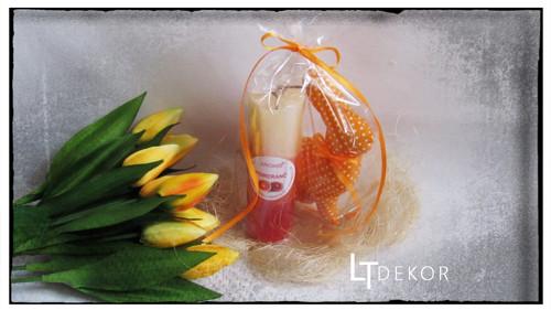 Dárkové balení - zajíček se svíčkou