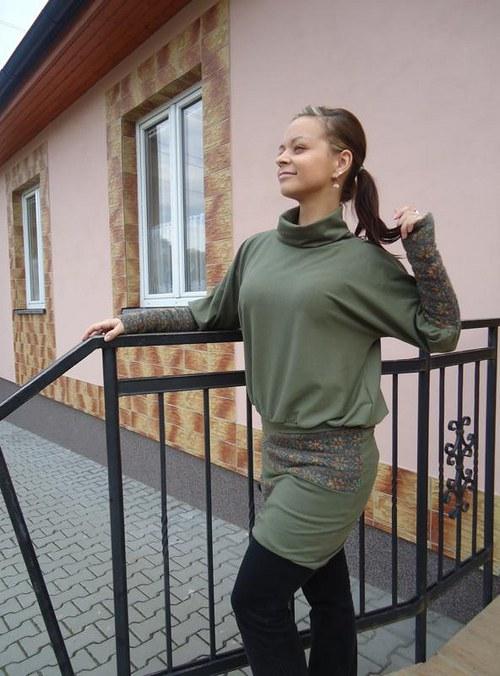 Teplé šaty z pleteniny