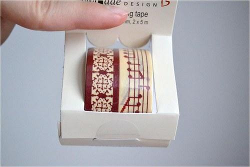 Papírové lepící pásky washi,2 ks 15mm x 5m