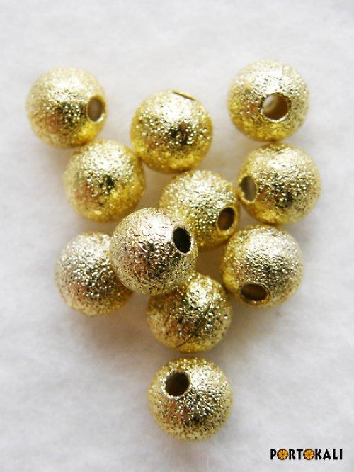 Korálky stardust 5mm zlaté - 30 ks