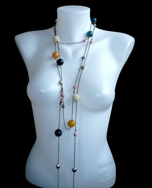 Maxidlouhý náhrdelník 2.5 metru