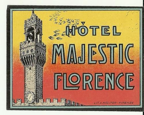 Hotelové nálepky Hotel Majestic Florence