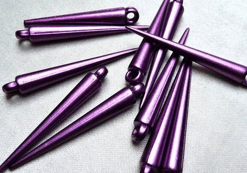 Plastová špička / hrot 35 mm - fialová / 2 ks