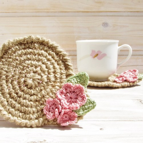 Podšálky - Romantic Flowers