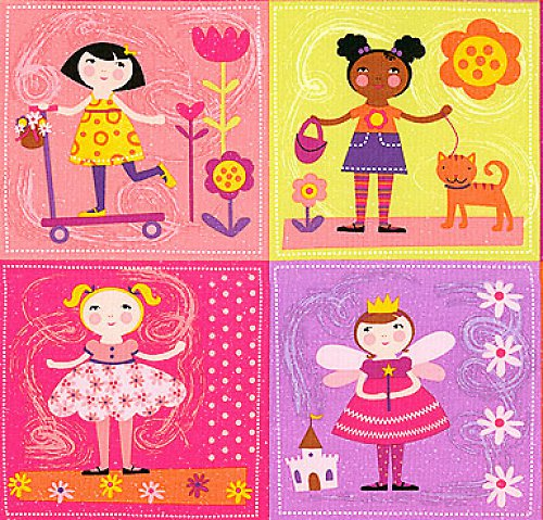 Holčičky - nažehlovací textilní obrázky