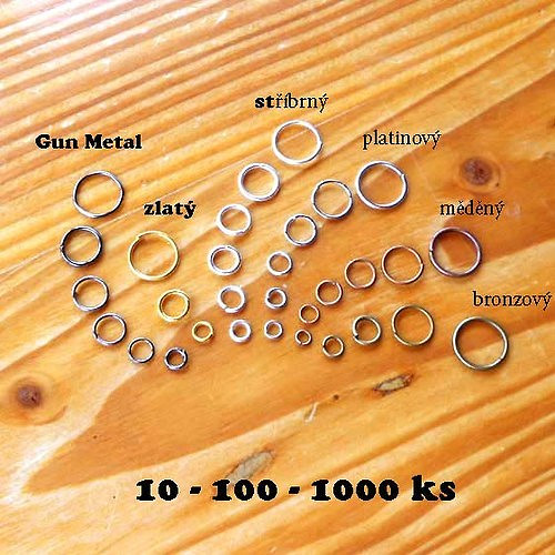 Kroužek 6mm - 10ks - Gun Metal