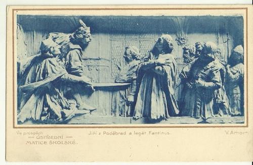 Umělecká pohlednice Ústřední matice školské