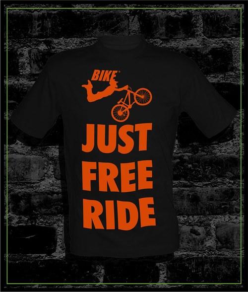 Pánské černé tričko Bike
