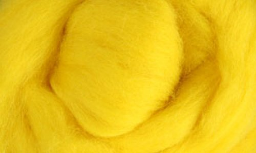 Česanec Corriedale Yellow 20 g