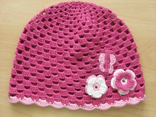 Růžová jarní čepice