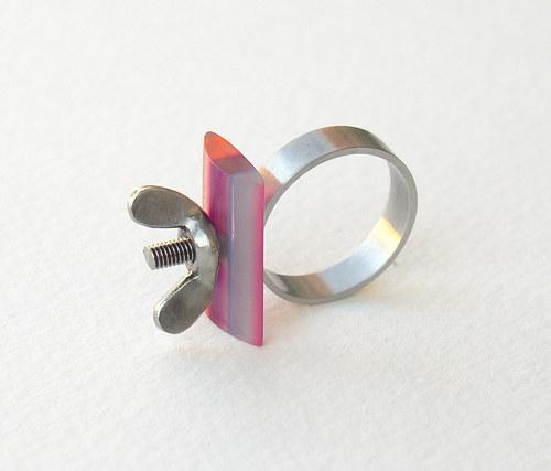 Prsten Pruhovaný barevný