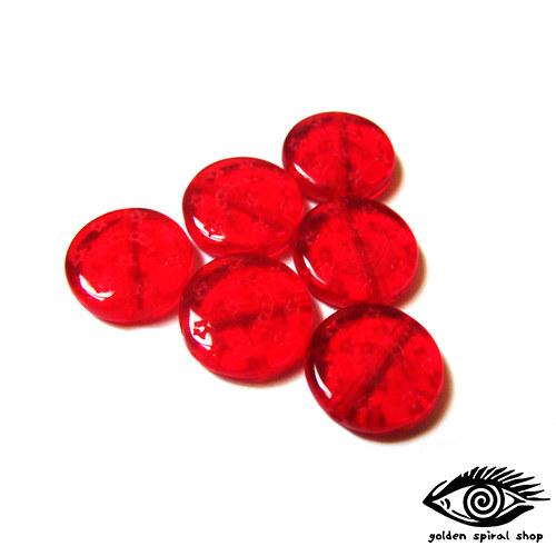 Červené strukturované - 6 ks