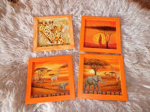 Obrázek - afrika, etno, žirafy