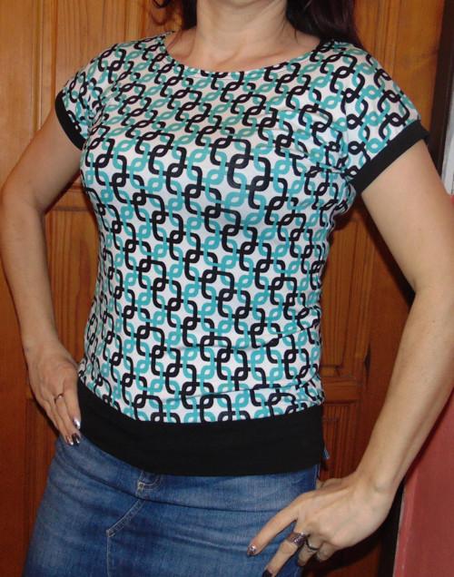 tričko PROPLETENÉ ČTVERCE-vel M