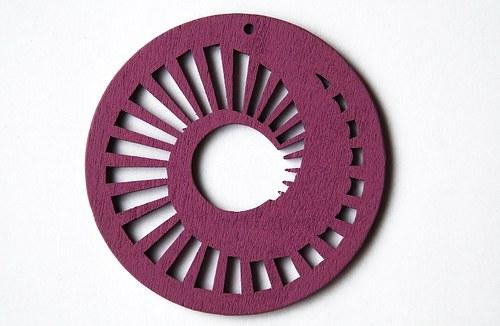 dřevěné kolečko 60 mm- sv. fialové