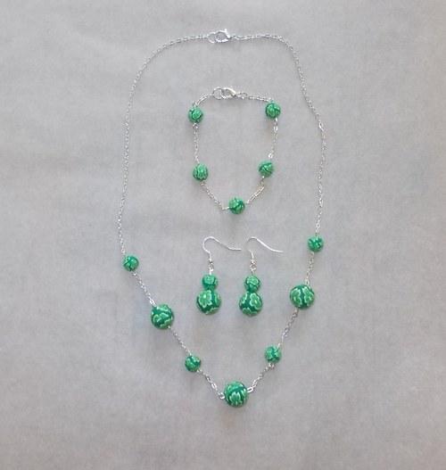 naušnice + náhrdelník + náramek