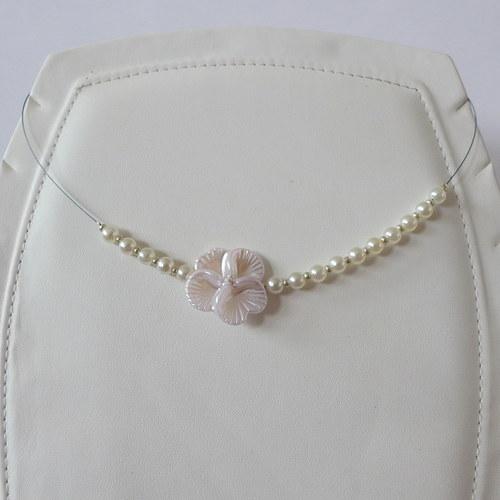 Náhrdelník Fleur Blanc