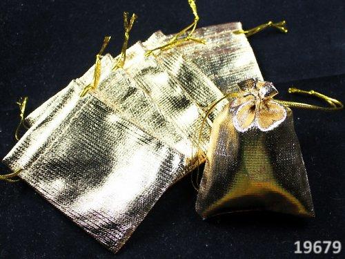 19679 Dárkový sáček lurex zlatý 9/7, á 1ks