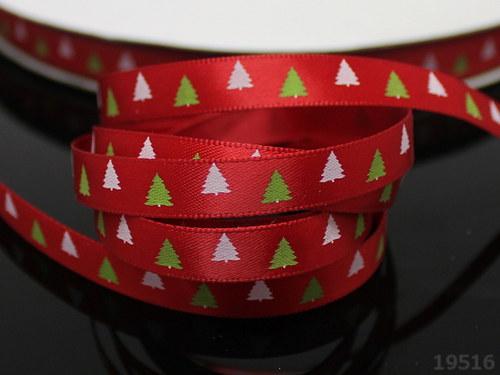 19516 Stuhy vánoční červené stromečky, svazek 3m