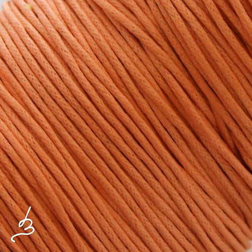 Bavlněná šňůrka 1 mm oranžová
