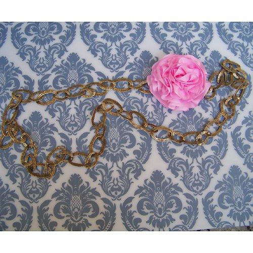 Bronzový náhrdelník s odepínací kytičkou 3
