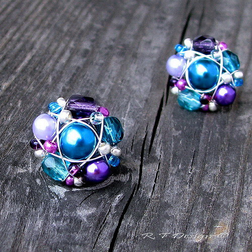 Náušničky Turquoise violets II...