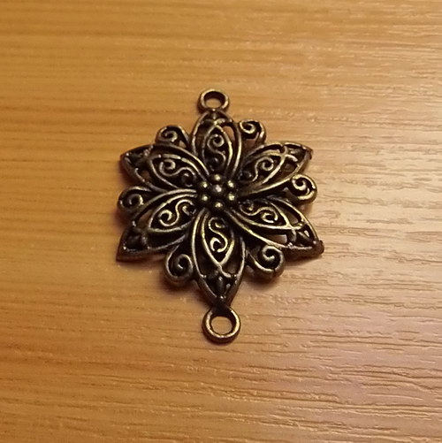 Bronzový květ -  3cm - 1 kus